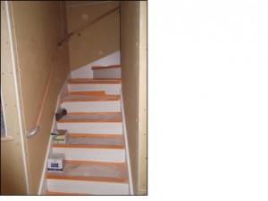 2015.9.10階段手摺り設置